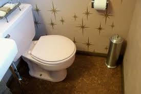 cork flooring for bathroom karen spends 708 to create a delightful pink bathroom retro