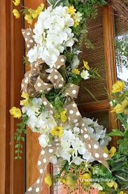 spring wreaths for front door white hydrangea spring front door wreaths