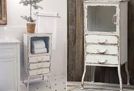 vintage bathroom storage ideas vintage bathroom storage distressed metal cabinet with 3 drawers