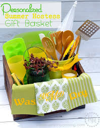 summer gift basket personalized summer hostess gift basket the scrap shoppe