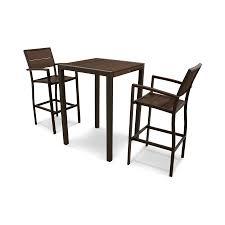 Outdoor Furniture 3 Piece by Shop Trex Outdoor Furniture Surf City 3 Piece Textured Bronze