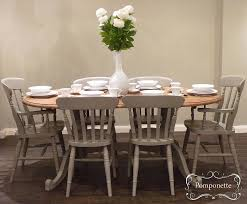 awesome chalk paint dining set oval dining table six chalk paint dining room chairs