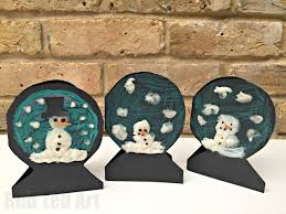 puffy paint snowman snowglobe cards red ted art u0027s blog