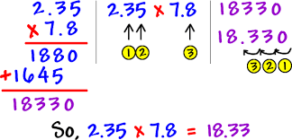 multiplying decimals decimals cool math pre algebra help lessons how to multiply