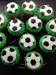 football cake toppers fondant sugar paste football cupcake toppers with piped green