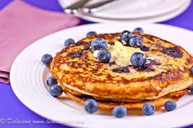 blueberry pancake blueberry pancakes with whipped lemon butter delicious everyday