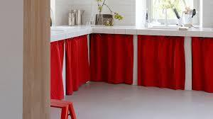 rideaux cuisine rideau sous evier tendance on customise ses placards de cuisine