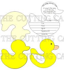 the cutting cafe u0027 duck shaped card invite set pdf template and