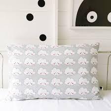 cute cloud face children u0027s bed linen in soft grey by love frankie