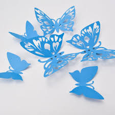 blue butterfly wall 3d butterfly from artpaperwonders on