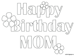 free coloring pages mother birthday love mom printable