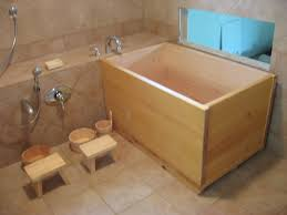 japanese wood soaking tub combine unique 2 small wooden shower