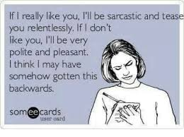 Sarcastic Memes - if i really like you l ll be sarcastic and tease you relentlessly if