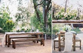 Farm Tables With Benches Farm Table U0026 Bench Rentals San Diego