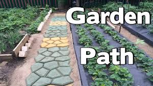 Paver Mold Kit by A Great Idea For The Garden Path Building Paths In The Garden