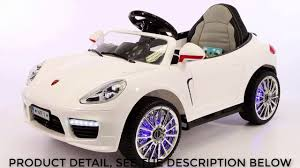 barbie cars with back seats 2017 porsche boxster style 12v ride on car remote control