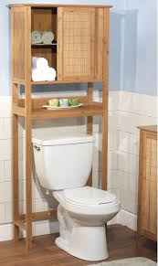 Bathroom Storage Shelves Over Toilet by Furniture Natural Polished Teak Wood Bathroom Cabinet Over The