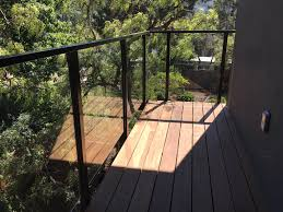 Cantilevered Deck by Glass Railings Introducing The Glass Lock 3000