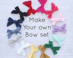 how to make your own hair bows hair bow set etsy