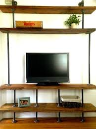 Black Pipe Shelving by Pipe Tv Stand Google Search New Apartment Pinterest Tv