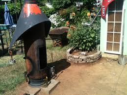 Chofu Wood Stove by Fire Pit Made From A Hotwater Tank And A Rim And Old Wood Stove