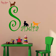 girls bedroom wall decals custom girls name wall decal and three cute kitten decal girls