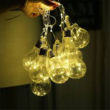 copper globe string lights classical battery filament ball festoon holiday copper string lights