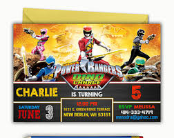 power rangers wrapping paper power rangers banner etsy