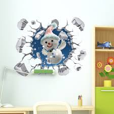pag 3d christmas snowman snowflake sticker wall decals home 3d