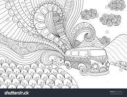 van line art design coloring book stock vector 421547551