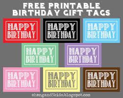 free printable birthday gift tags for kids printable invitations