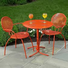 orange metal patio chairs metal patio chairs gallery xtend
