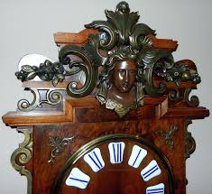 large unique wall clock ornate french wall clock with gilded iron