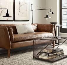 canapé marron cuir decoration entretien canape cuir marron canape droit classique