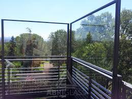 pare vent verre paravent pour particuliers paravents en verre pour terrasse et