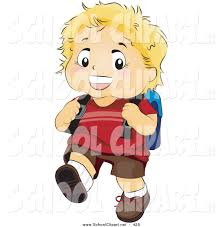 Walking Home Design Inc by Clip Art Of A Blond Boy Walking Home With A Backpack By Bnp
