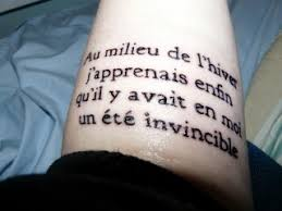 first tattoo and it u0027s a camus literary one bookworms with ink