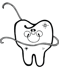 tooth and toothbrush coloring pages dental for preschool