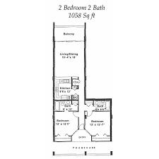 2 bed 2 bath floor plans floor plans the breakers of fort walton