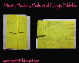 mean median mode and range foldable freebie fun in room 4b