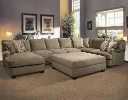 ottoman beautiful furniture u mocha fabric sectional sofa with