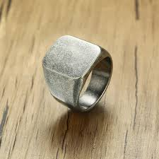 men rock rings images Smooth black rock punk ring jpg