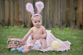easter pictures with baby easter bunny baby 6 month baby girl conway ar baby