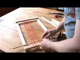 How To Make A Rag Rug Weaving Loom How To Weave With A Simple Frame Loom Youtube