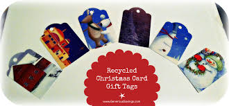 make your own gift tags from recycled cards generous savings