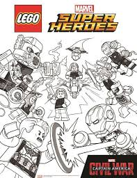 kids n fun com 15 coloring pages of lego marvel avengers