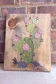 a string art cactus desert home decor home and living baby nursery