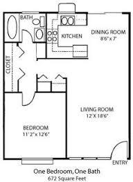 Granny Flat Floor Plans 1 Bedroom 16x30 1 Bedroom House 16x30h1 480 Sq Ft Excellent Floor