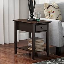 Curved Nightstand End Table Rectangle End U0026 Side Tables You U0027ll Love Wayfair