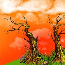 trio of trees painting